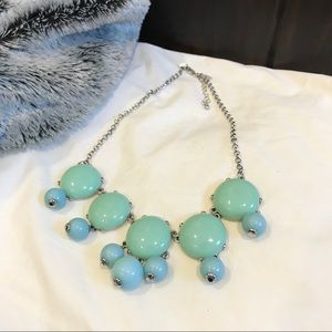 Mexx green & blue bead necklace silver chain